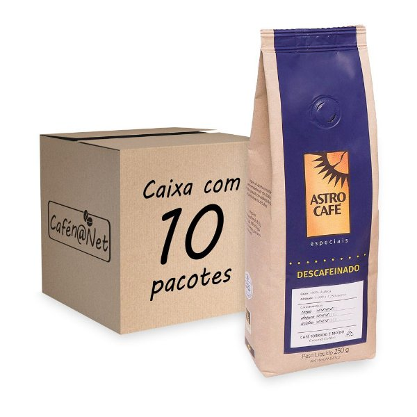 Astro Café Moído Descafeinado de 250g - Kit com 10