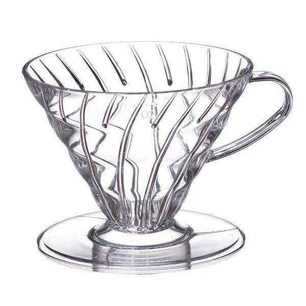 Coador para Café em Acrílico Transparente Hario V60-02