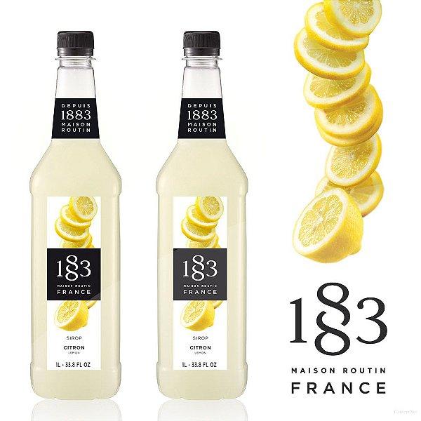 Kit com 2 Xaropes 1883 Routin de Limão 1 Litro | Lemon | Citron