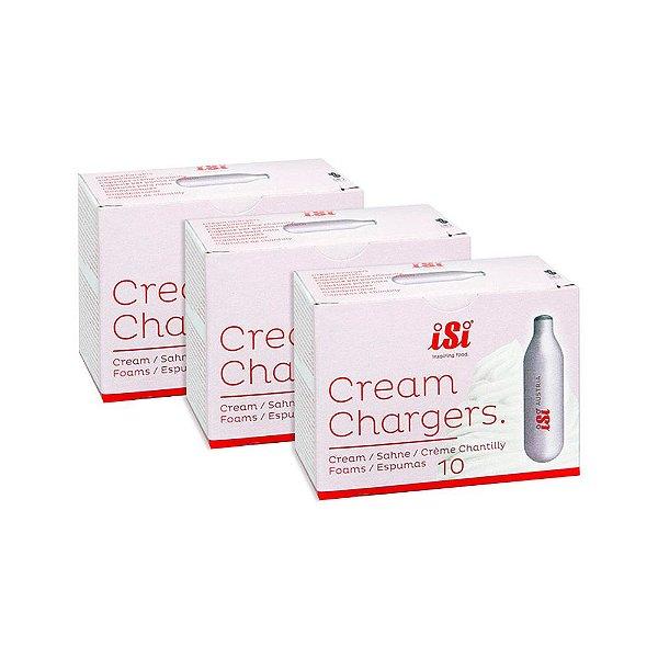 Kit com 3 caixas de Cápsulas de Gás ISI para Garrafa de Chantilly