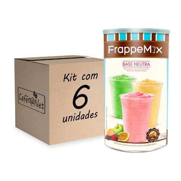 Kit com 6 unidades de Frappemix Flari Base Neutra (900g cada)