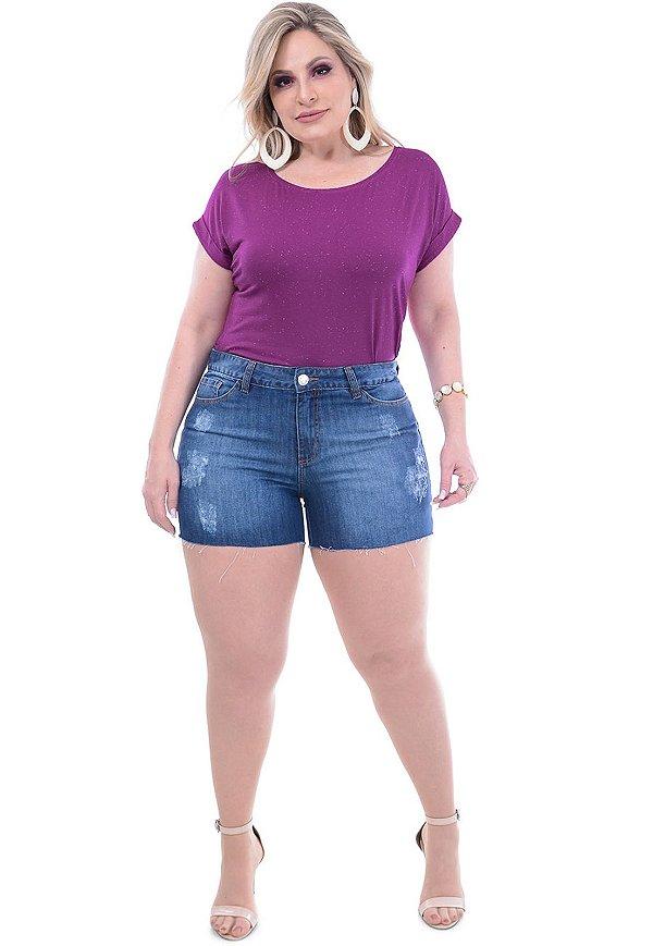 Shorts Jeans Plus Size Stone