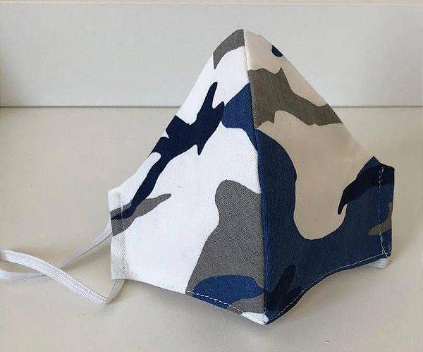 Máscara de Proteção Camuflada Azul