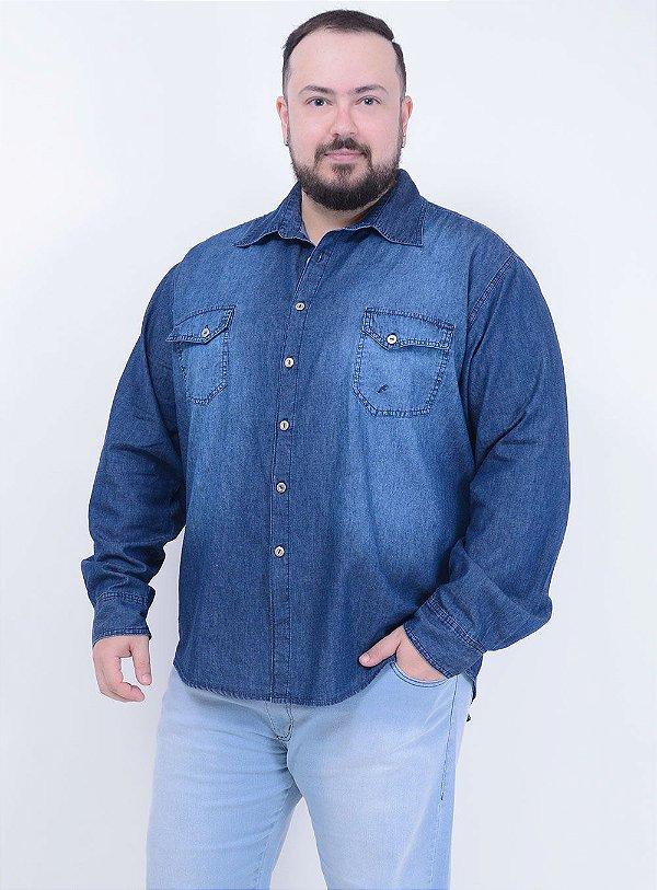 Camisa Jeans Stone Masculina