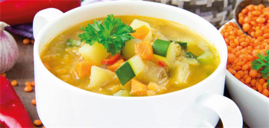 Sopa de legumes com alcatra