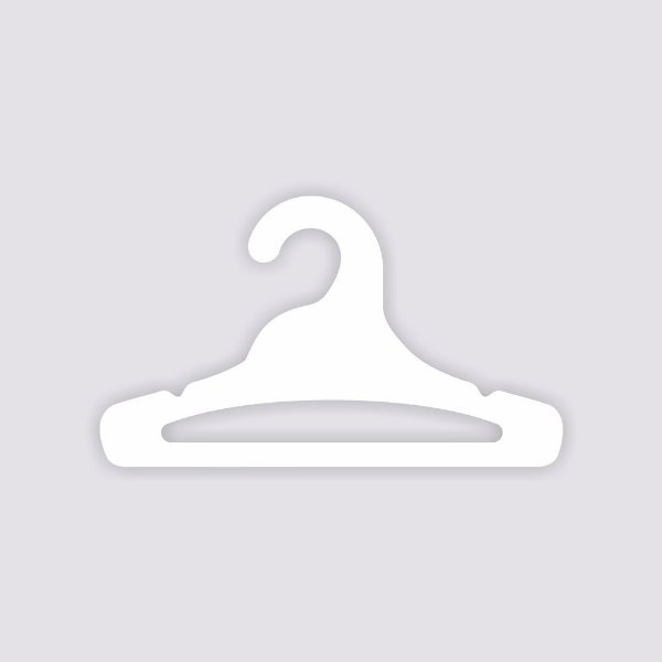 Cabide Juvenil Aberto / Capa Branca / CS103