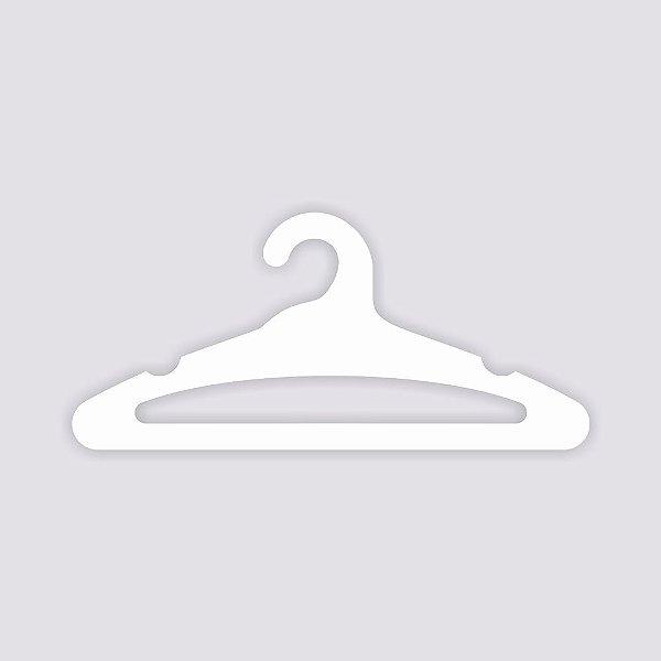 Cabide Adulto Aberto - Capa Branca / CS105
