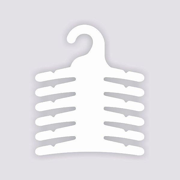 Cabide Multifuncional - 6 Ganchos / Capa Branca / CS115