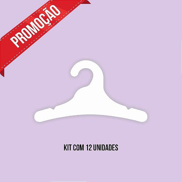 * Leve 12 Pague 10 - Kit Cabide Juvenil / Capa Branca / CS102