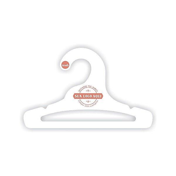Cabide Personalizado com a sua logo / Infantil Aberto / Capa Branca / CS101