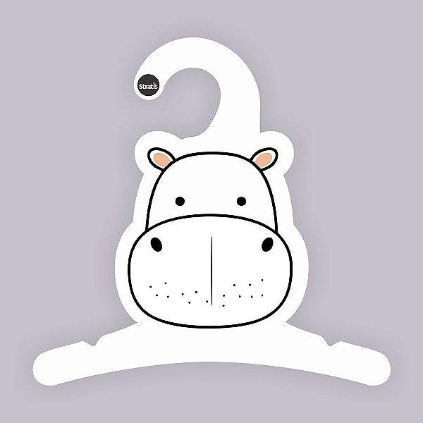 Cabide Bebê Hipopótamo / Capa Branca / CS120