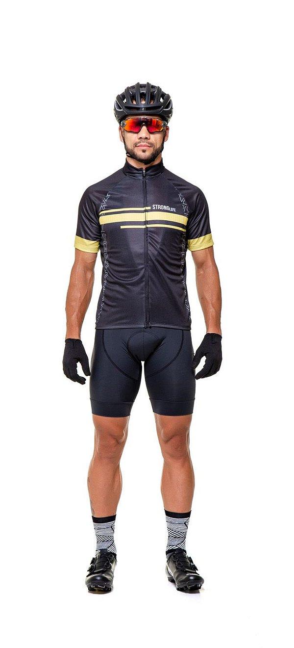 Camisa Dry para Ciclismo Masculina - Preto
