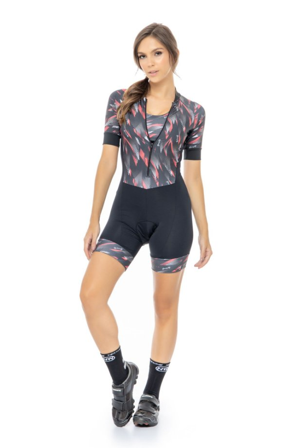 Macaquinho Feminino para Ciclismo Strong life Lavínia S229-100