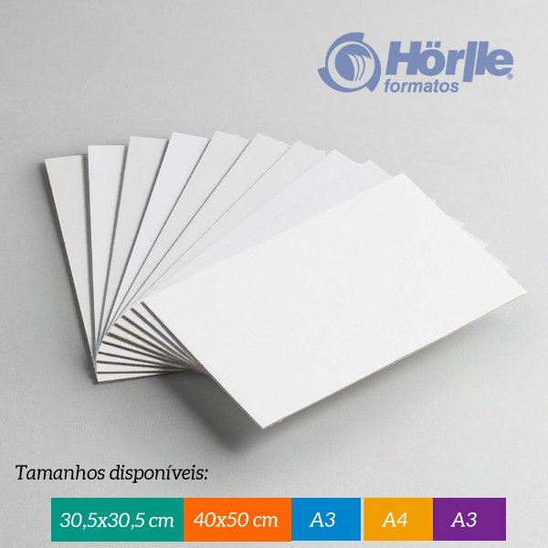 Pacote 10 folhas -  Cartão Capa Branca