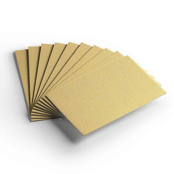 Pacote 10 folhas - Cartão Color Face Amarelo