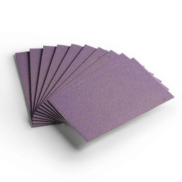 Pacote 10 folhas - Cartão Color Face - Lilás