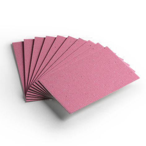 Pacote 10 folhas - Cartão Color Face - Rosa