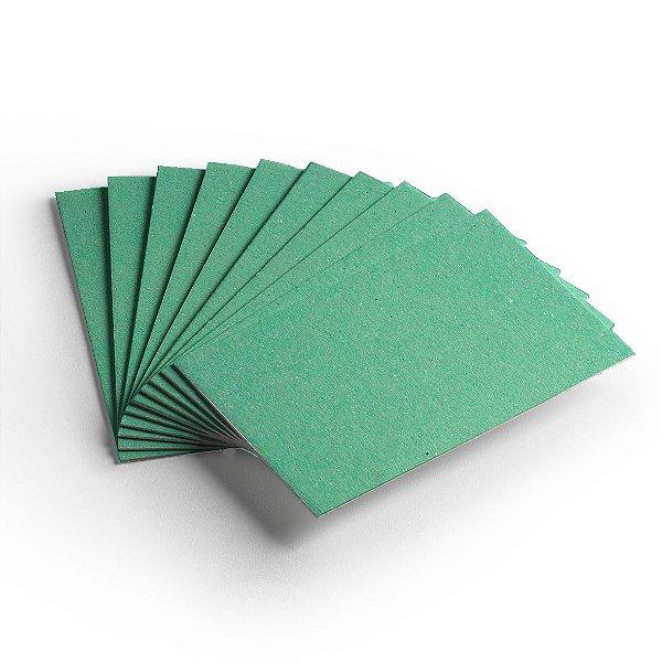 Pacote 10 folhas - Cartão Color Face - Verde Claro