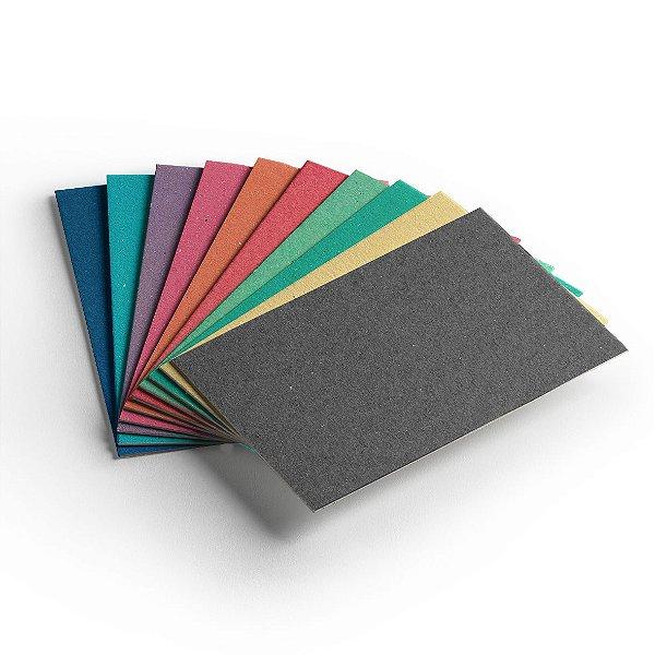 Pacote 10 folhas - Cartão Color Face - Sortido