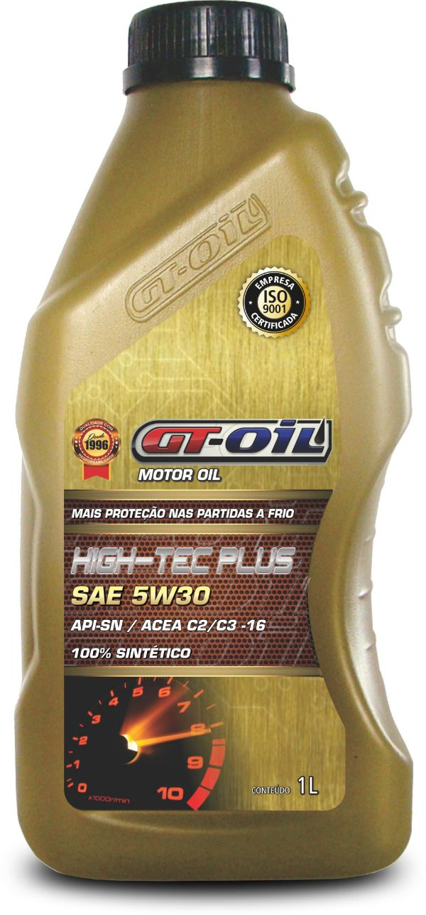 ÓLEO LUBRIFICANTE GT 5W30 API SM 100% SINTETICO