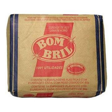LA DE AÇO BOMBRIL 14 X 8