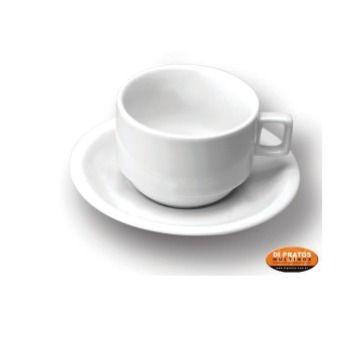 XICARA CAFE 50 ML EMPILHAVEL BRANCA C/12