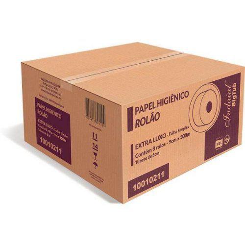 PAPEL HIG ROLAO F. SIMPLES 100% (8X300) INDAIAL