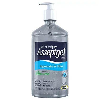 ALCOOL GEL ANTIS. ALOE VERA C/ BOMBA 420 ML ASSEPTIGEL