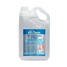 ALCOOL GEL 70° ANTISSEPTICO ALL CLEAN 5 LITROS