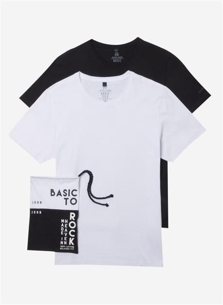 Kit Camiseta John John Basic Malha PB