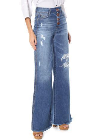 Calça Jeans Flare Botões Colcci