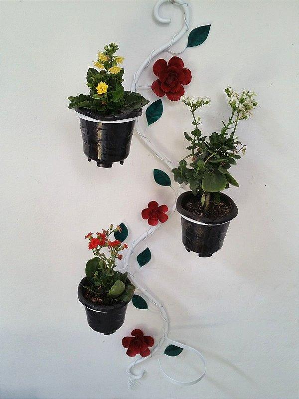Floreira Vertical de Parede p/ 4 vasos !
