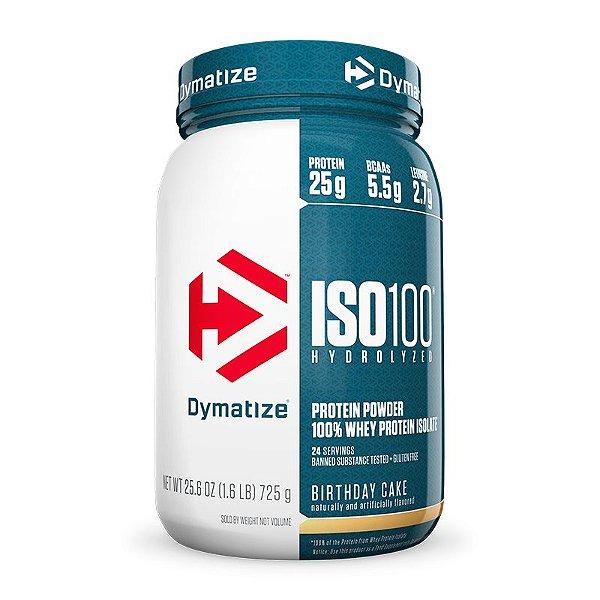 ISO 100 Whey Protein Isolado 100% Hidrolisado 726g  Dymatize Baunilha
