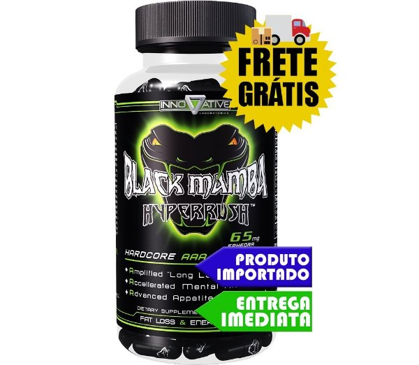 BLACK MAMBA TERMOGENICO HYPERRUSH (90 CÁPSULAS) - INNOVATIVE LABS
