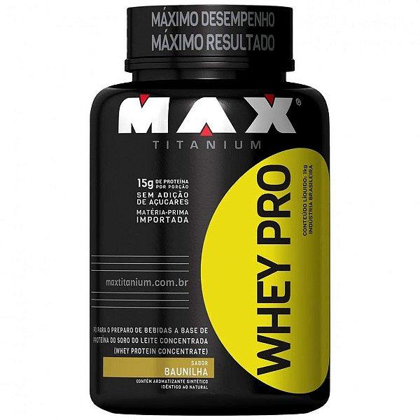 Whey Pro 900g- Max Titanium Morango