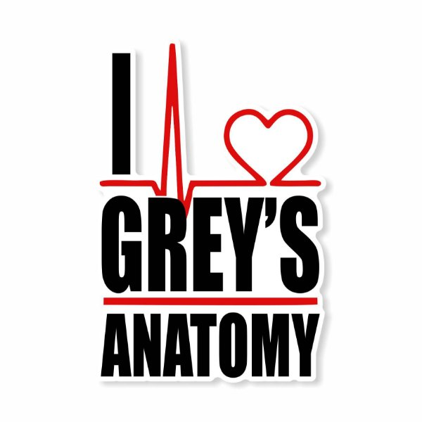 I Love Grey's Anatomy Sticker