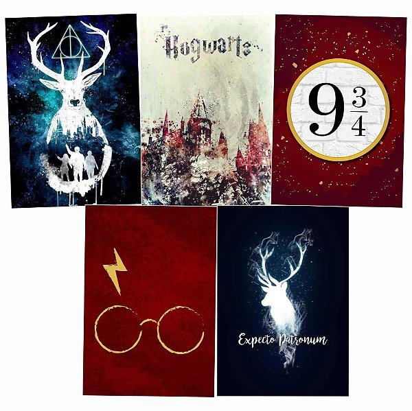 Kit Harry Potter - 5 Placas