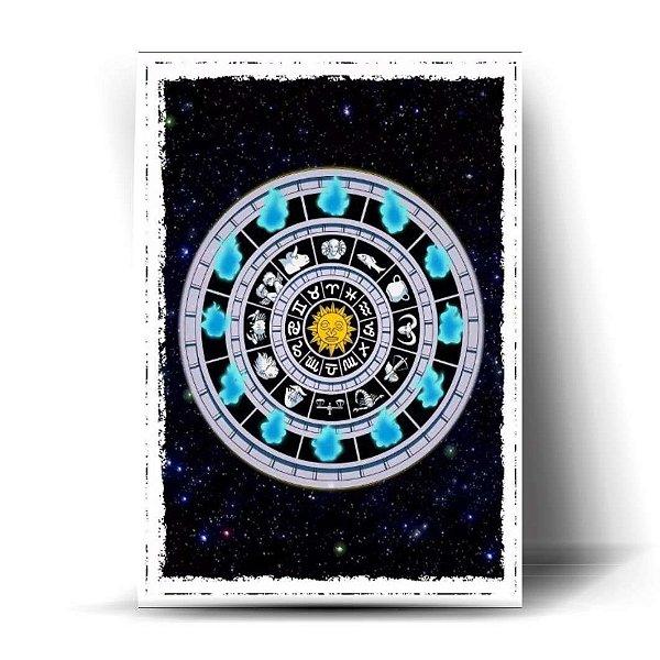 Relógio de Fogo 12 Casas do Zodíaco