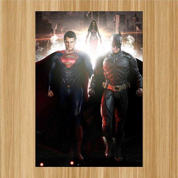 SUPERMAN, BATMAN AND WONDERWOMAN