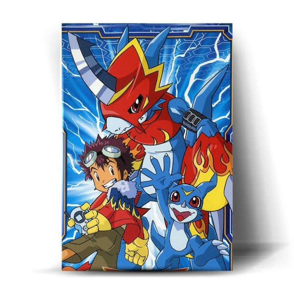 Davis, Veemon and Flamedramon