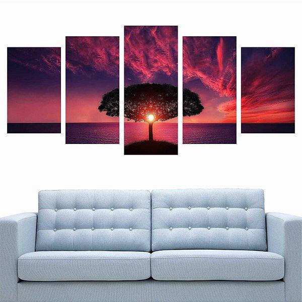Mosaico Árvore Amanhecer