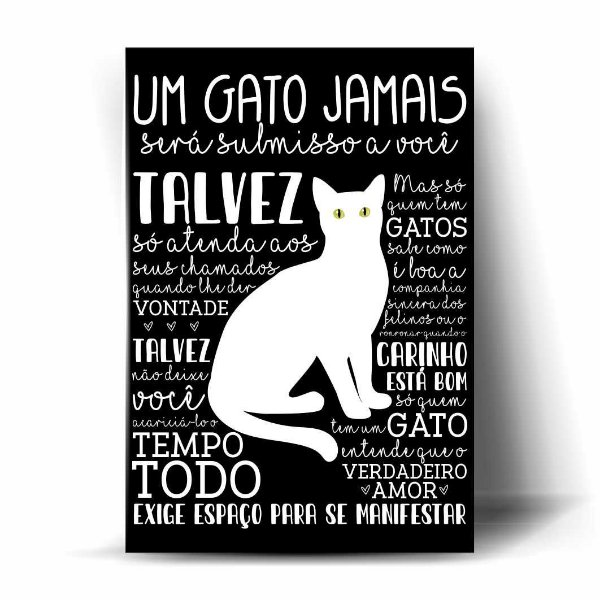 Um Gato Jamais será submisso...