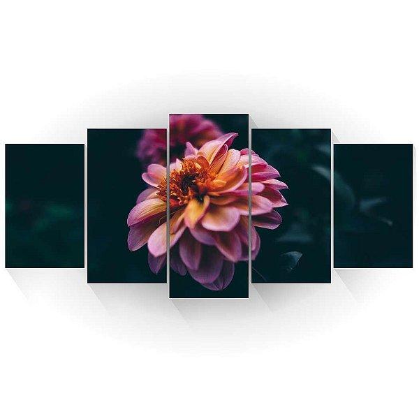 Mosaico Flor Dália Rosa