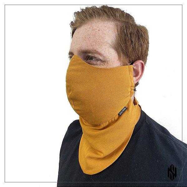 Máscara para Barbudos Lisa Amarelo Ouro