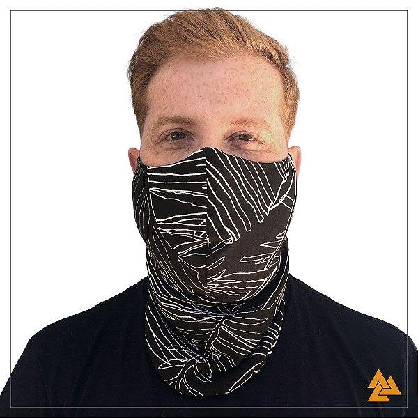Máscara para Barbudos Preta Riscos Brancos