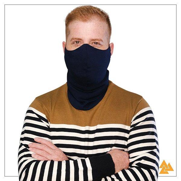 Máscara para Barbudos Azul Marinho Tam P 27cm de comprimento