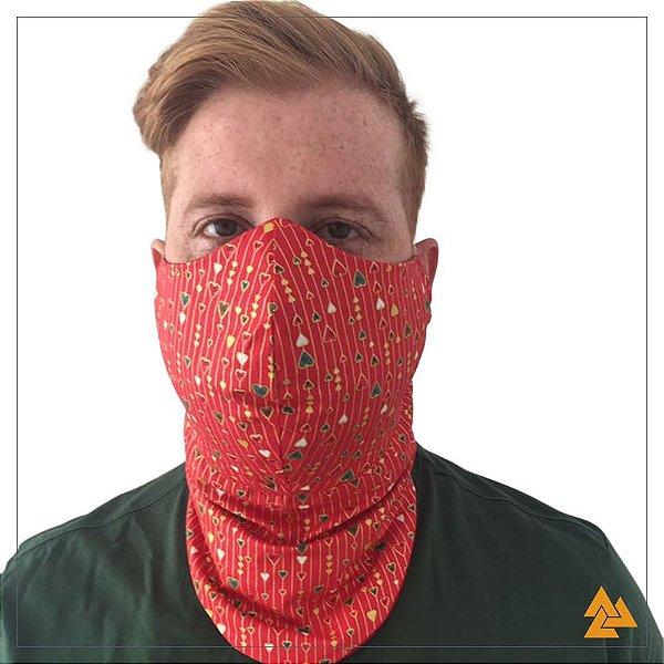 Máscara para Barbudos Estampa Natalina Core