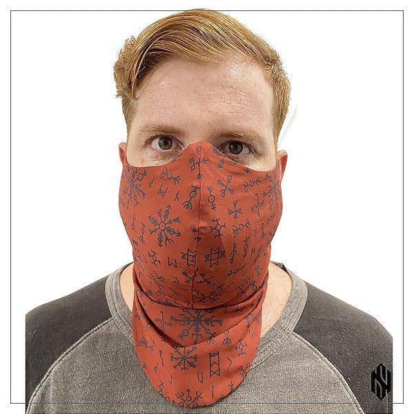 Máscara Para Barbudos Terra Estampa Nórdica Exclusiva