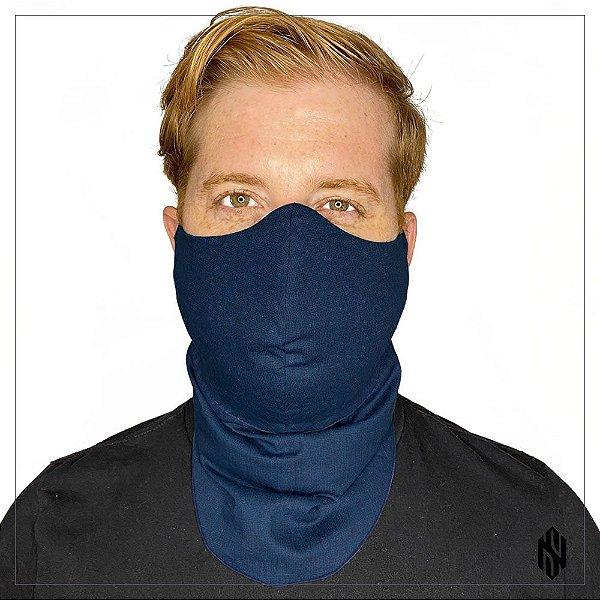 Máscara para Barbudos Estampa textura azul