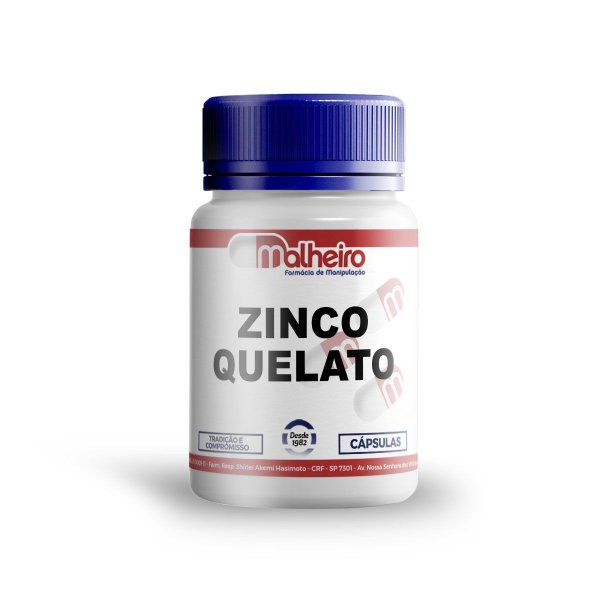 ZINCO QUELATO 50MG CÁPSULAS